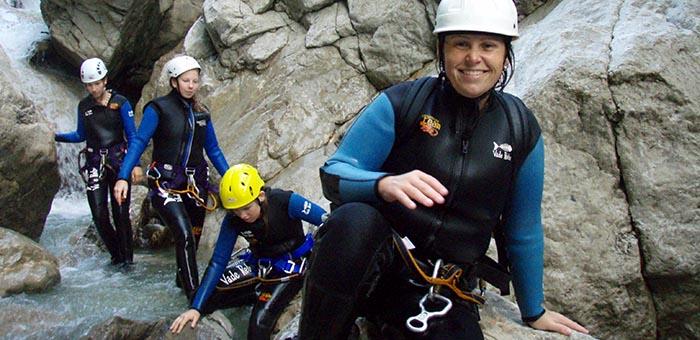 Canyoning Einsteigertour Dornbirn Kobelbach