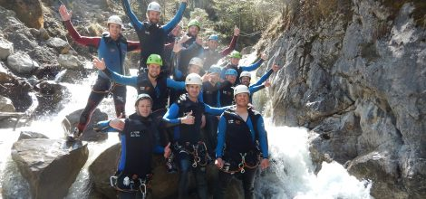erste canyoning tour in der kobelschlucht dornbirn mit natursinne 10